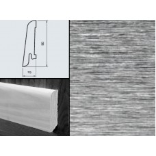 Плинтус шпонированный Burkle Алюминий 60x15