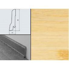 Плинтус шпонированный Burkle Бамбук светлый 80x20