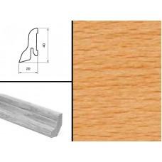 Плинтус шпонированный Burkle Бук коричневый 40x22