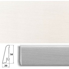 Плинтус шпонированный Pedross Белый гладкий 58x20
