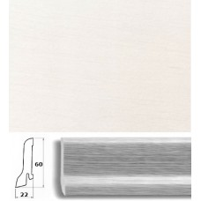 Плинтус шпонированный Pedross Белый гладкий 60x22