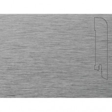 Плинтус шпонированный Pedross Алюминий светлый (фольгированный) 70x15