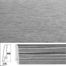 Плинтус шпонированный Pedross Алюминий светлый 60x15