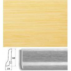 Плинтус шпонированный Pedross Бамбук светлый 60x22