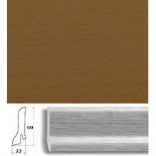 Плинтус шпонированный Pedross Бук коричневый 60x22